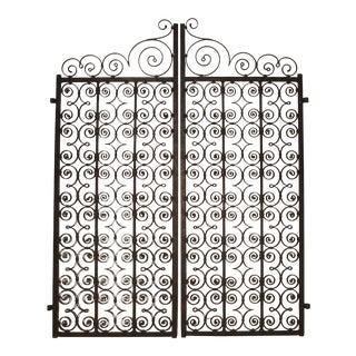 A Pair of Scrolled Forged Iron Gates from France, 1800s