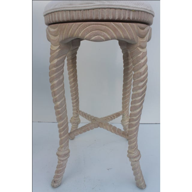 Italian Carved Rope & Tassel Bar Stools -- A Pair - Image 7 of 11