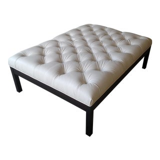 Gambrell Renard Tufted Leather Ottoman