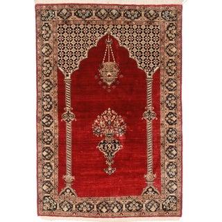 RugsinDallas Fine Hand-Knotted Silk Persian Qum Rug - 3′6″ × 6′2″