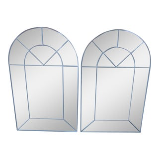 Carol Canner Designed Carvers' Guild Architectural Window Style Mirrors - a Pair
