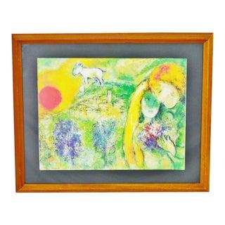 Vintage Les Amoureux de Vence, Marc Chagall Framed Poster