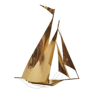 Vintage Brass and Copper Sailboat