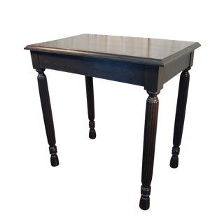 Black Table with Jewel Toned Surface