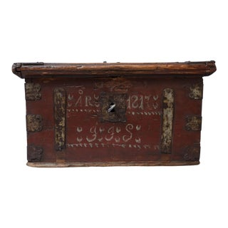 19th-Century Swedish Marriage Chest / Box