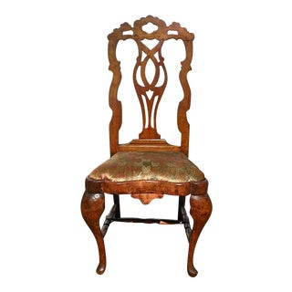 Set of Four Period Dutch Baroque or Queen Anne Applewood Side Chairs