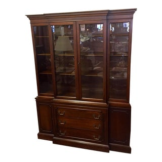 Vintage Georgetown Galleries Mahogany Breakfront China Cabinet