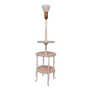 Antique Regency Painted Dumbwaiter Floor Lamp