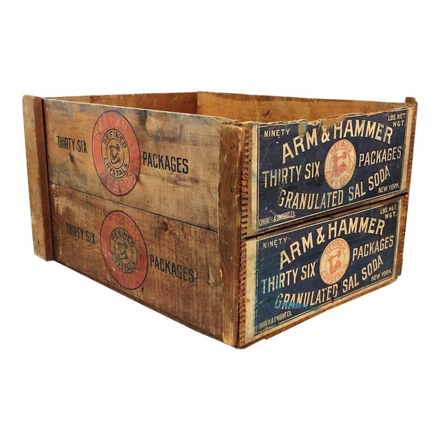 Vintage Arm & Hammer Soda Wood Shipping Crate - Image 1 of 7