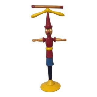 Vintage 1940s Italian Wooden Child's Pinocchio Valet