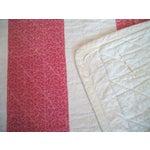 Image of 19th Century Machine Stitched Pink and Cream Calico Bar Crib Quilt