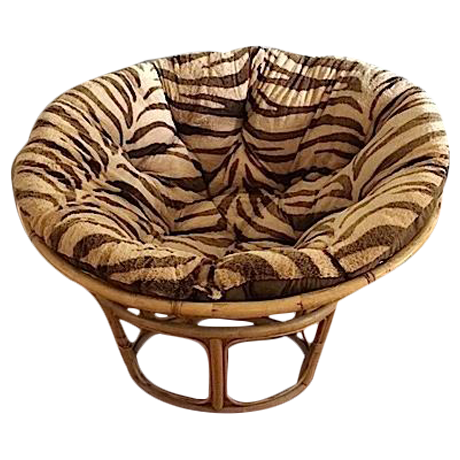 1970s papasan chair with reversible cushion