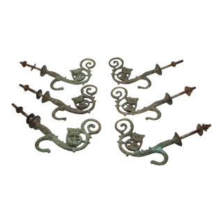 Circa 1880s Antique Hooks - Set of 6