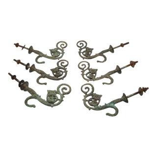 Circa 1880s Antique Hooks - Set of 6