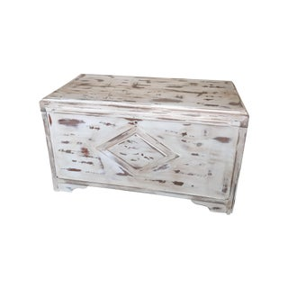 Vintage Hand Painted Wood Chest