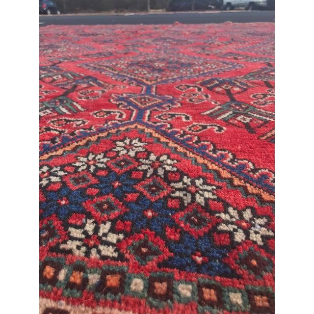 "Vintage Persian Yalameh Area Rug - 7'8"" x 9'7"" - Image 6 of 11"