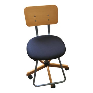 Retro Style Rolling Draftsman Chair