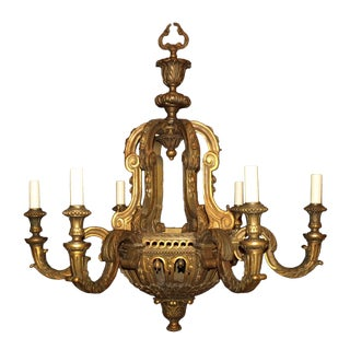 Antique Chandelier Giltwood