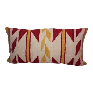 Navajo Indian Weaving Yellow and Red Bolster