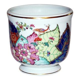 Mottahedeh Tobacco Leaf Porcelain Cachepot