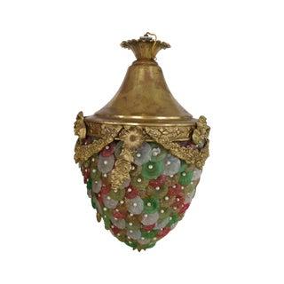 Czech Florettes Antique Chandelier W/ Flower Beads