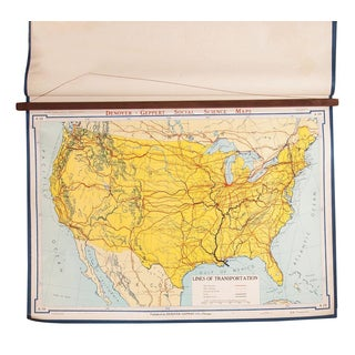 Vintage USA Lines of Transportation Map