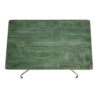 Vintage Green French Metal Table
