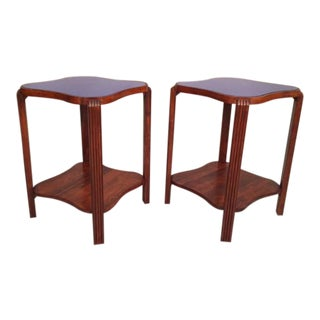 Mirrored Art Deco Side Tables - A Pair
