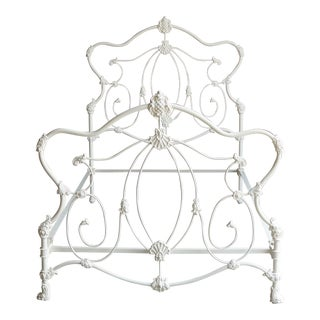 Antique Shabby Cottage Chic Iron Double Bedframe