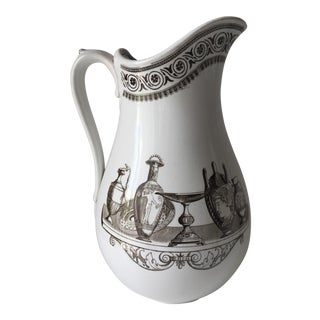Antique English Etruscan Pitcher-George Jones