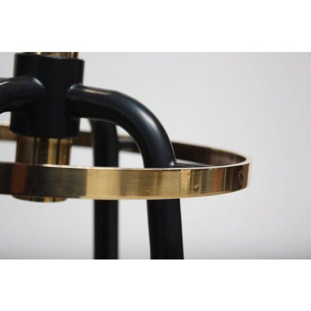 Mid-Century Italian Modern Brass Swivelling Coat Rack - Image 6 of 11