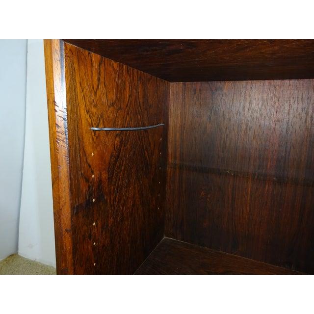 Image of Mid-Century Rosewood Chrome Base Bookshelf