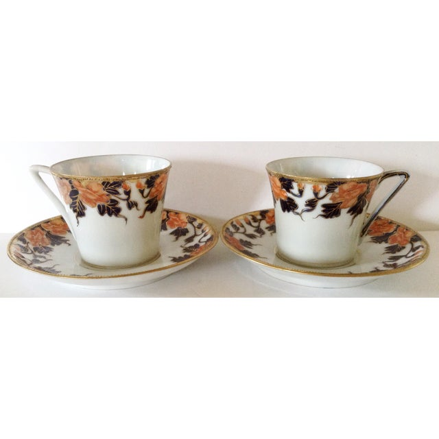 English Egg Shell Cups & Saucers - A Pair - Image 2 of 3
