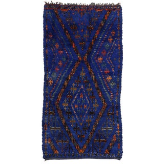 Vintage Moroccan Rug by Ben Ouarain - 5'8 x 10'10