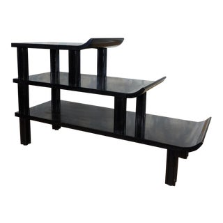 James Mont Black Asian Pagoda 3-Tier Table