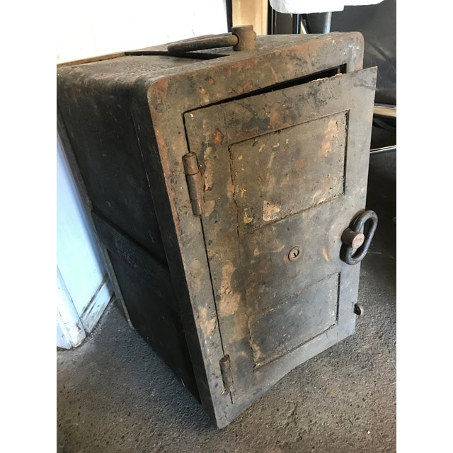 Solid Iron Antique Train Lock Box - Image 5 of 10