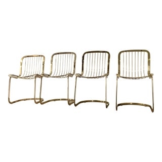 Cidue of Italy Brass Dining Chairs - Set of 4
