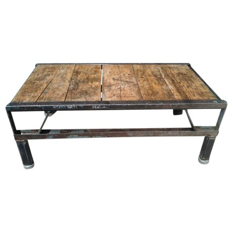 Industrial Detroit Factory Cart Coffee Table - Image 1 of 5