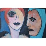 Image of 1960's Oil on Canvas Portrait Painting by Eb Rosen