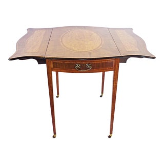 George III Crossbanded Sycamore and Satinwood Pembroke Table