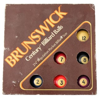 Vintage Brunswick Century Billiard Ball Set