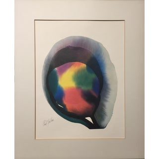 """Mid-Century Paul Jenkins Abstract Lithograph """"Invocation Orb"""""""
