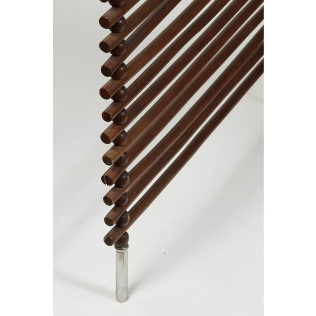 Mid Century Wood Stick & Ball Screen - Image 2 of 7