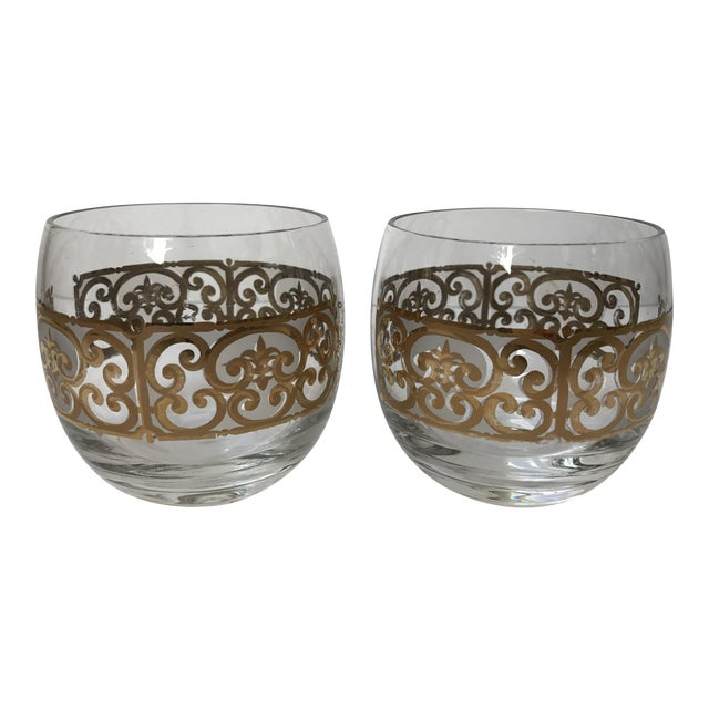 Georges Briard Roly Poly Filligree Glasses -- A Pair - Image 1 of 5