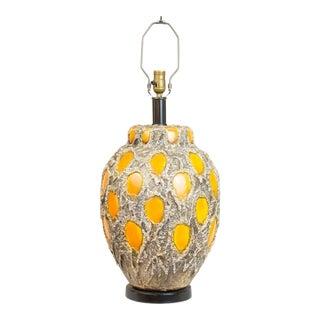 Stangl Brutalist Pumpkin Lamp