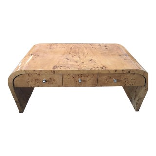 Burled Wood Cocktail Table