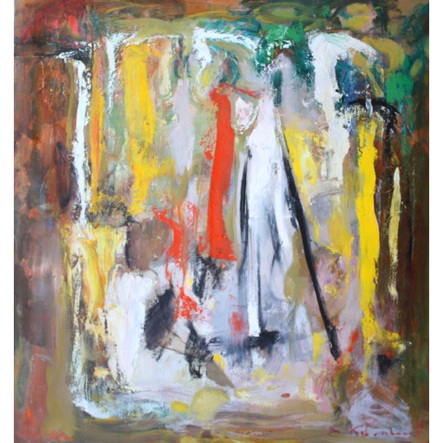 Murat Kaboulov Abstract in Red & Yellow Painting - Image 1 of 2