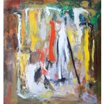 Image of Murat Kaboulov Abstract in Red & Yellow Painting
