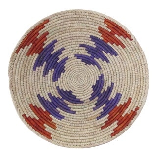 Native American Style Purple & Rust Arrow Basket
