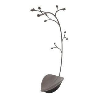 Metal Trinket Tray Jewelry Holder/Soap Dish Tree